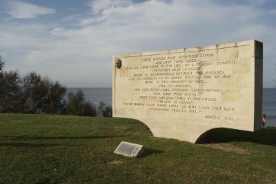 גליפולי, אנדרטה, מלחמה העולם הראשונה