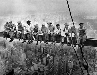 עובדים, פועלי בניין, מרכז רוקפלר, קורה