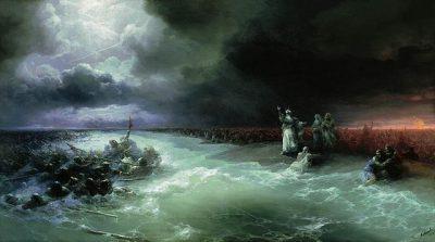 חציית ים סוף, ויבואו בני ישראל בתוך הים, אייוזובסקי