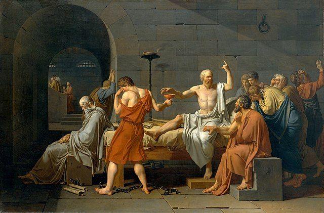 מותו של סוקרטס, ז'אק-לואי דויד