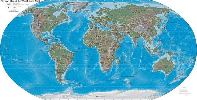 העולם, מפה, CIA