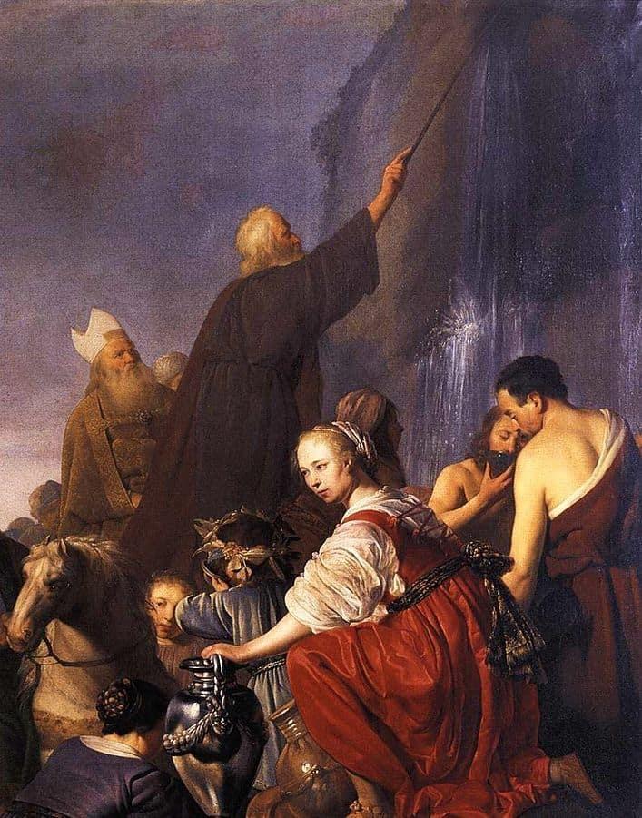 משה מכה בסלע, פיטר דה גרבר