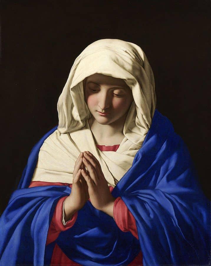מריה, ישו, אימהות, בתולה, Sassoferrato