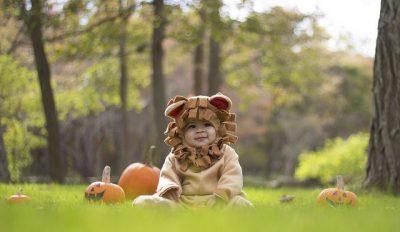 תינוק, אריה, תחפושת, פארק