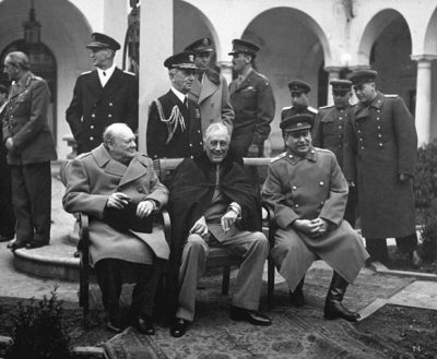 ועידת ילטה, סטלין, רוזוולט, צ'רצ'יל