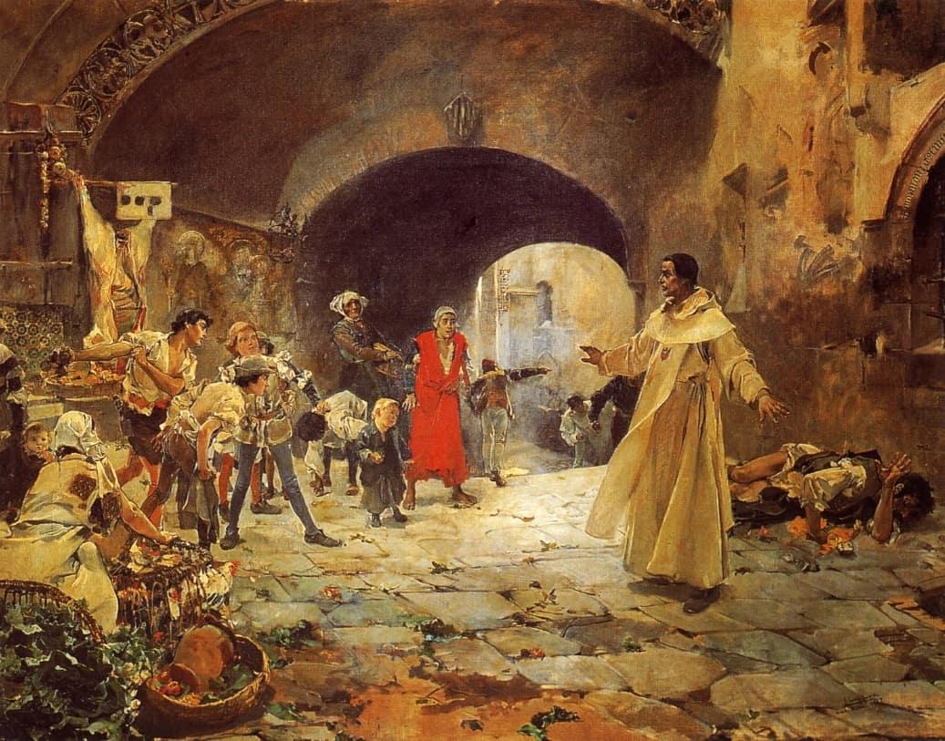 חואקין סורויה, האב ז'ופרה מגן על מטורף