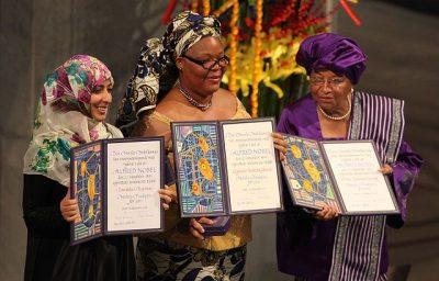פרס נובל לשלום, נשים, לימה בואי, אלן ג'ונסון-סירליף, תוואכול כרמאן