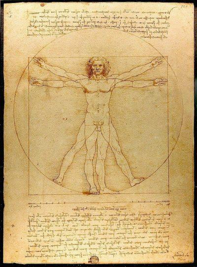 האדם הוויטרובי, לאונרדו דה וינצ'י