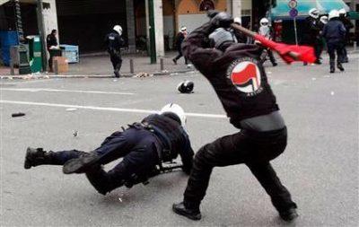 אנטיפה, הפגנה, שוטר, אלימות