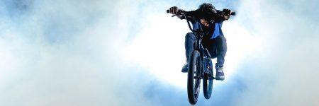 קפיצה, אופניים, שמיים, עננים