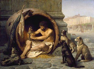 דיוגנס עם כלבים, ז'אן-לאון ז'רום