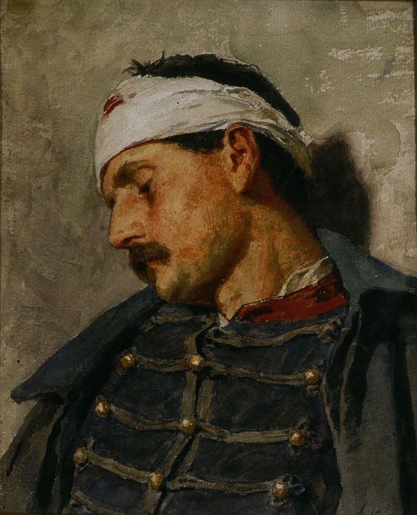 חייל פצוע, אלברט אנקר