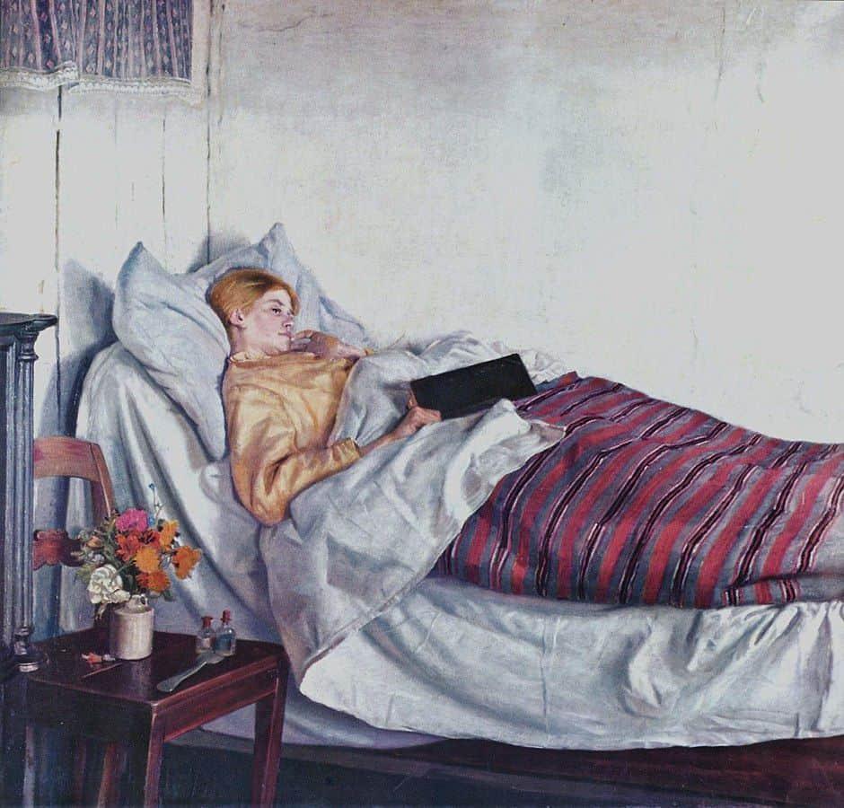 הנערה החולה, מיכאל אנקר
