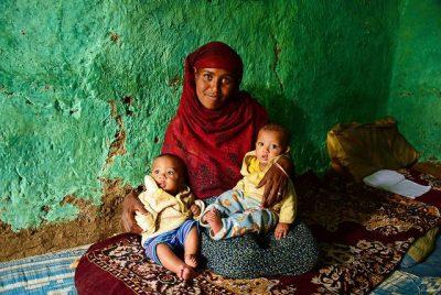אתיופיה, אם, תאומים, תינוקות