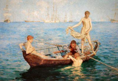 כחול של אוגוסט, הנרי סקוט טיוק