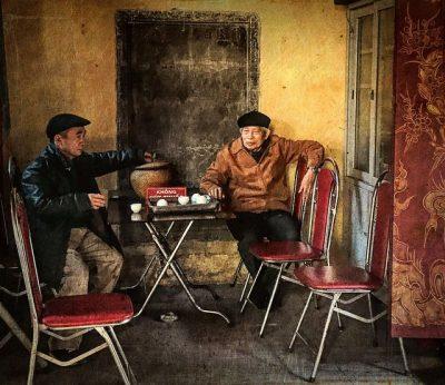 האנוי, וייטנאם,חברים, שיחה, בית קפה