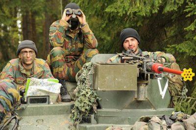 חיילים, שדה, אימונים, בלגיה, צבא