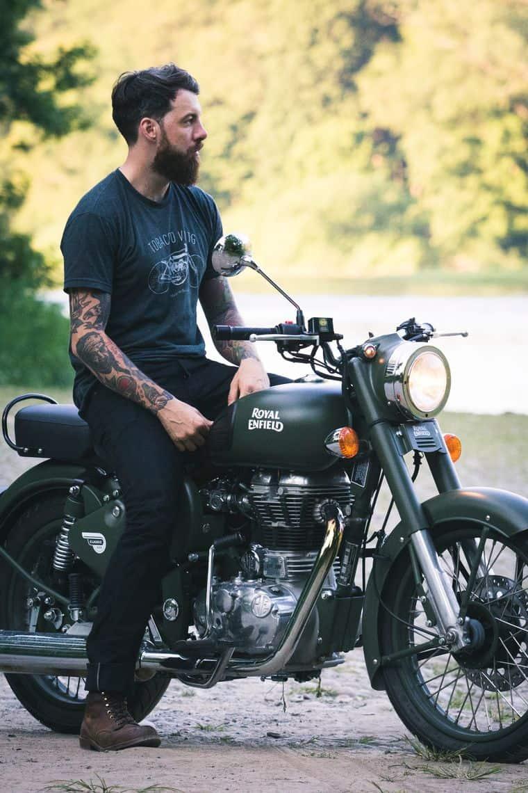 אופנוע, Royal Enfield, אנפילד, רוכב