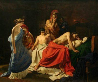 אכילס מבכה את מותו של פטרוקלוס, ניקולאי גה, איליאדה, הומרוס