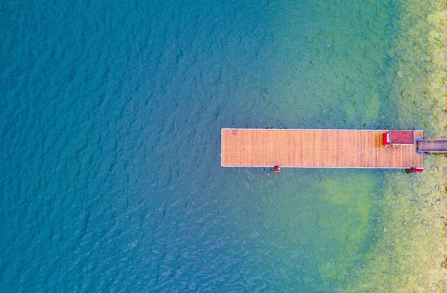 ים, מים, אגם, רציף