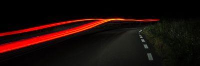 כביש, לילה, נורבגיה, תנועה, אור, מכונית