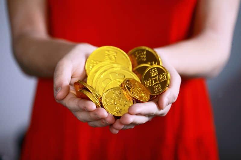 כסף, מטבעות שוקולד