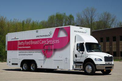בטי פורד, סרטן השד, ניידת טיפול