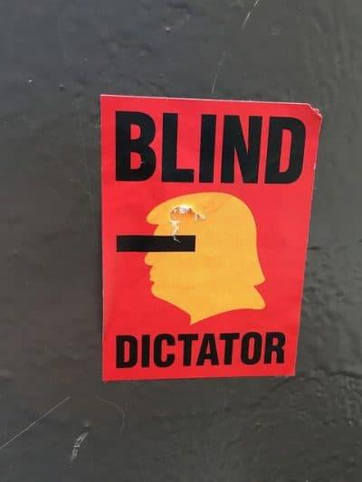דיקטטור, טראמפ, כרזה, מנהטן