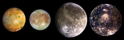 כוכב צדק, כוכב לכת, ירחים, ירחים גלילאים