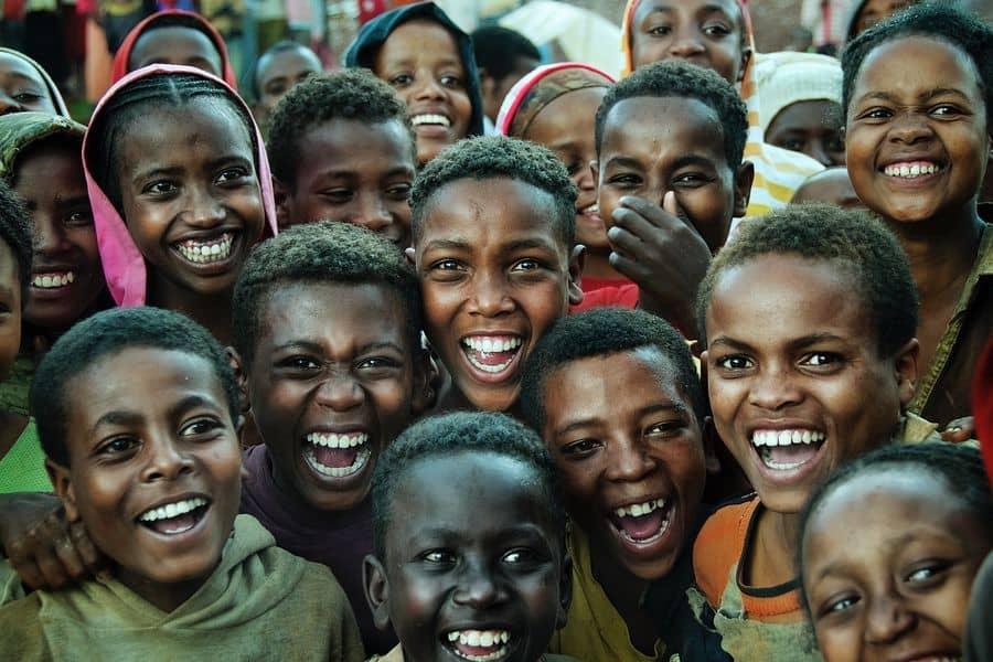 ילדים, בני נוער, צחוק, אתיופיה