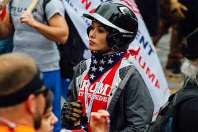 טראמפ, תומכת, הפגנה
