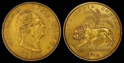 זהב, הודו הבריטית, מטבע, ויליאם הרביעי