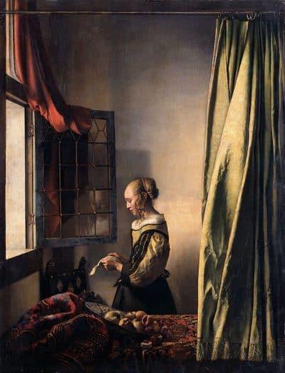 אישה קוראת ליד חלון, ורמיר