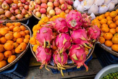 שוק, מיאנמר, פירות