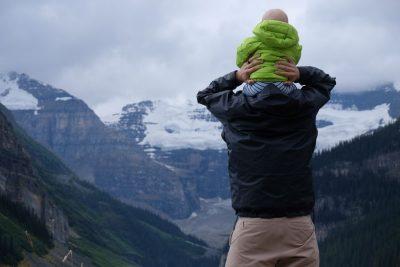 אבא, תינוק, נוף, כתפיים
