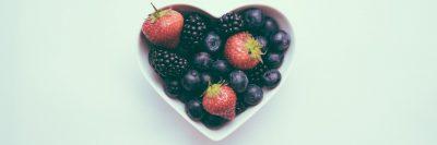 לב, תותים, פטל, פירות בר