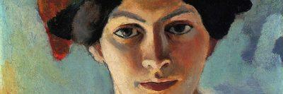 אשתו של האמן (בכובע כחול), אוגוסט מאקה