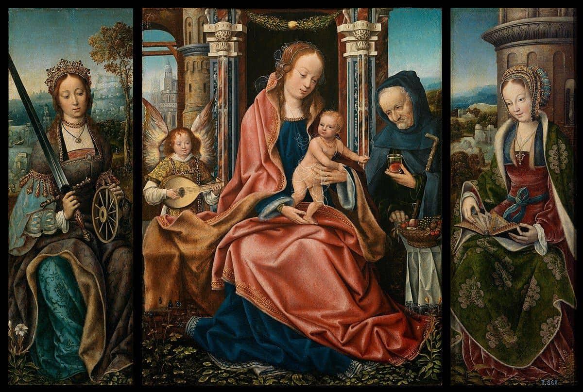 המסטר מפרנקפורט, המשפחה הקדושה, קתרינה הקדושה, ברברה הקדושה, טריפטיך