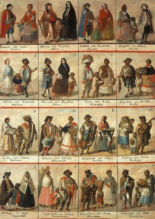 מקסיקו, קולוניאליזם, גזעים, קסטות