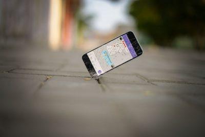 טלפון סלולרי, מסך שבור, טלפון שבור