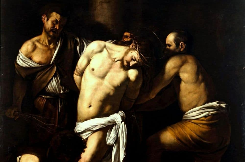 הלקאתו של ישו, קאראווג'ו