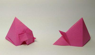 חתול ועכבר, קיפולי נייר