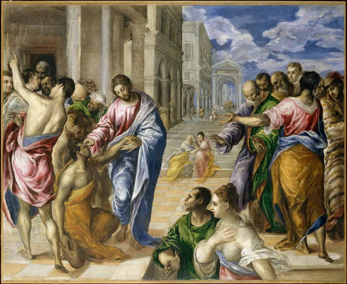 ישו מרפא את העיוור, אל גרקו