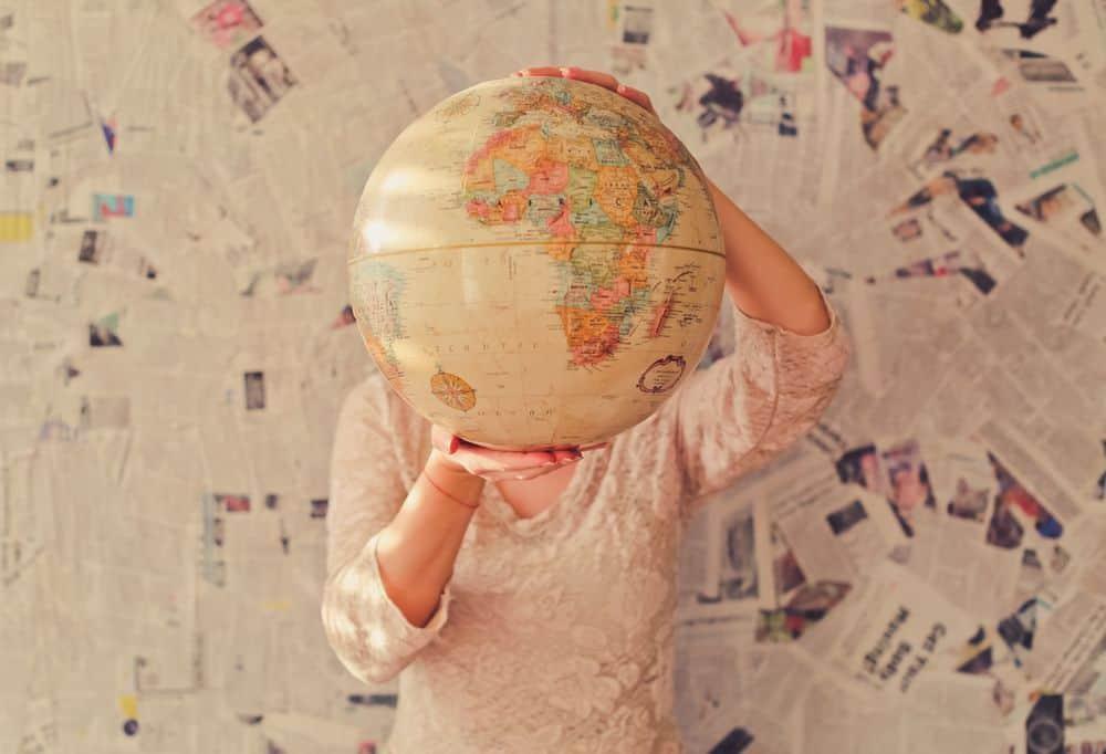 גלובוס, מפה, התמצאות, עולם