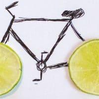 אופניים, איור, לימון