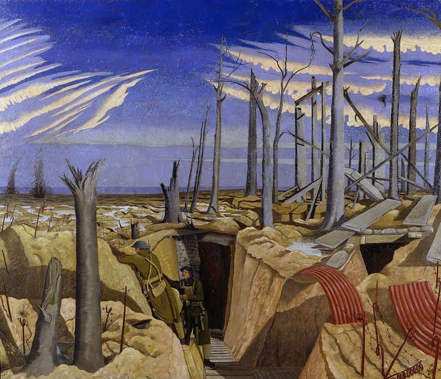 יער Oppy, ג'ון נאש, מלחמת העולם הראשונה
