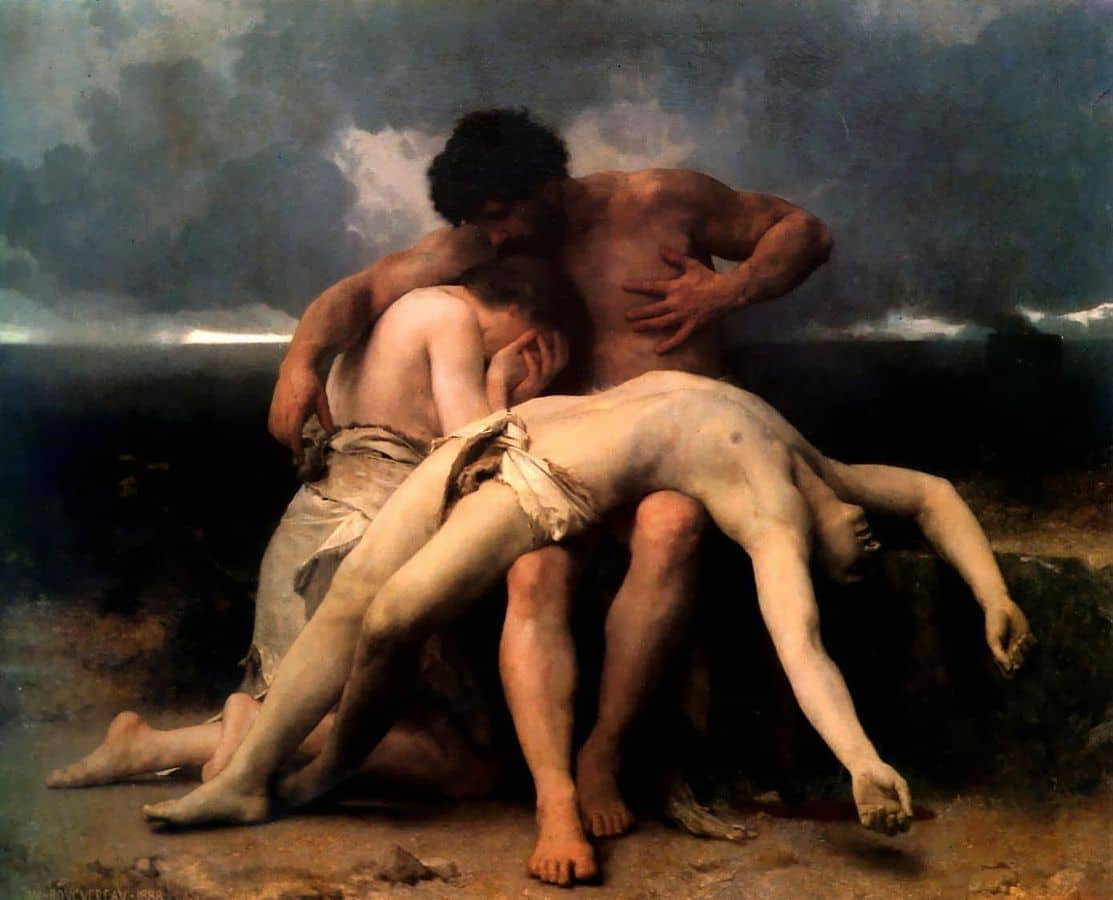 האבל הראשון, אדם וחוה מתאבלים על הבל, ויליאם-אדולף בוגרו