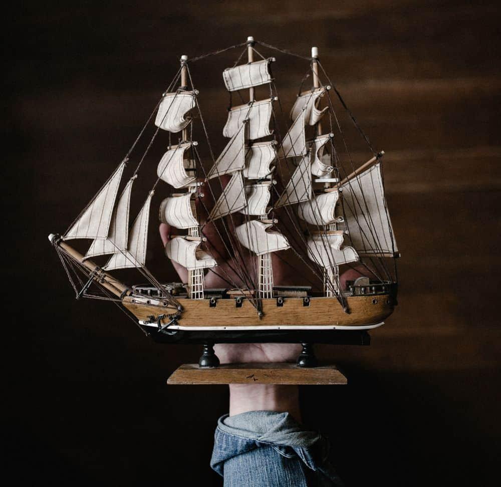 ספינת מפרש, דגם ספינה, תגליות