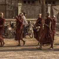 נזירים, בודהיסטים, בודהיזם, מיאנמר, בורמה, מנדליי