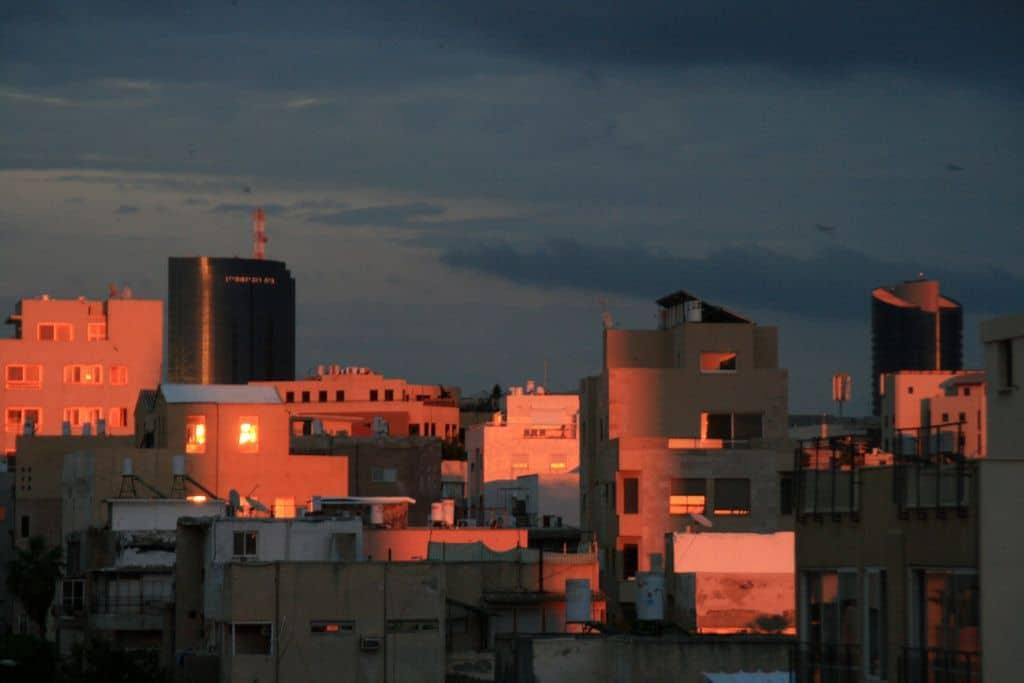 תל אביב, ערב, שקיעה